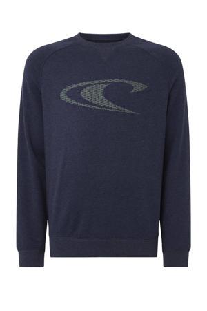 sweater met logo ink blue
