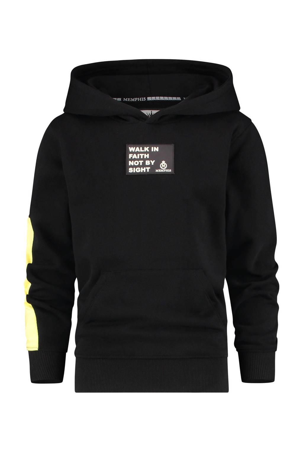 Vingino Memphis Depay hoodie Nachlas met logo zwart, Zwart