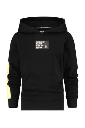 hoodie Nachlas met logo zwart