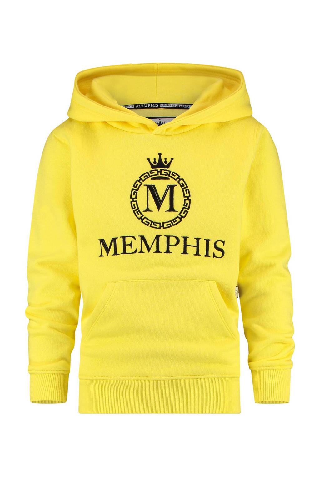 Vingino Memphis Depay hoodie Nomani met logo felgeel, Felgeel