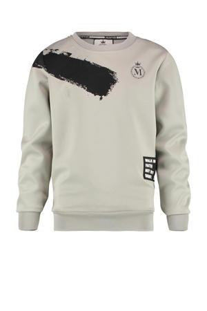 sweater Namos met logo grijs/zwart