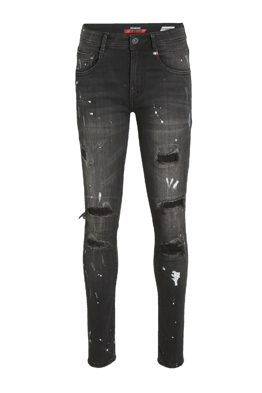 Vingino skinny jeans Apache black, Black