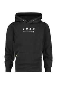 Vingino hoodie Neal met logo zwart, Zwart