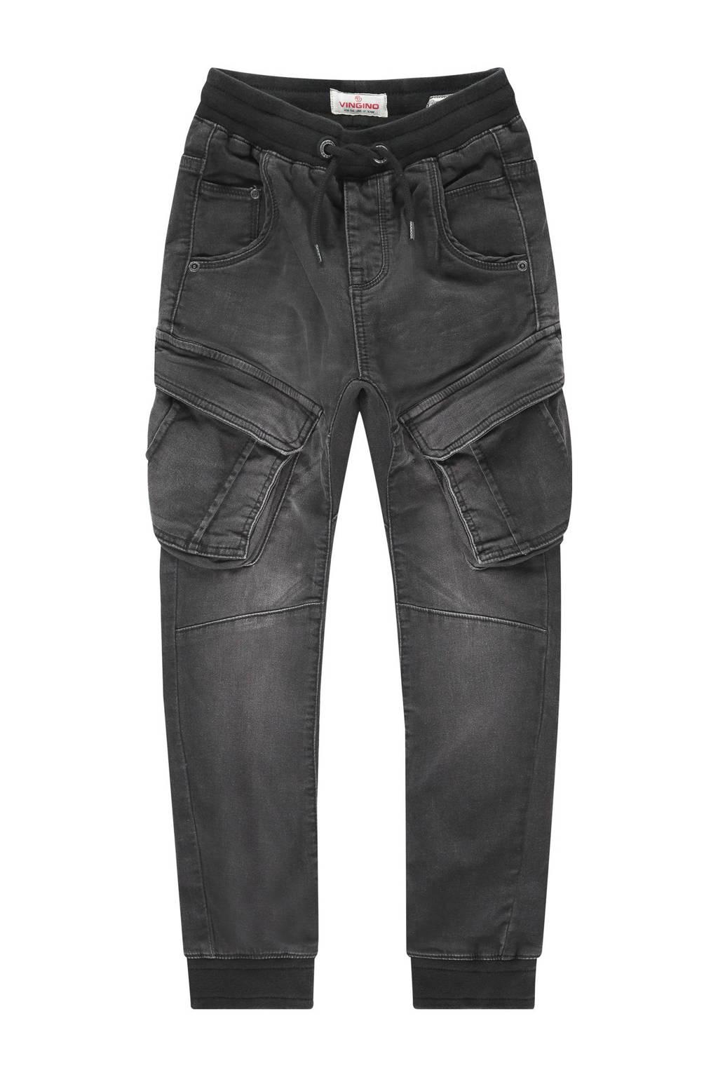 Vingino loose fit jeans Carlos black vintage, Black Vintage
