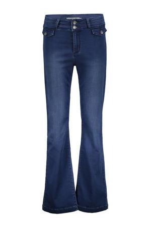 flared jeans dark denim stonewashed