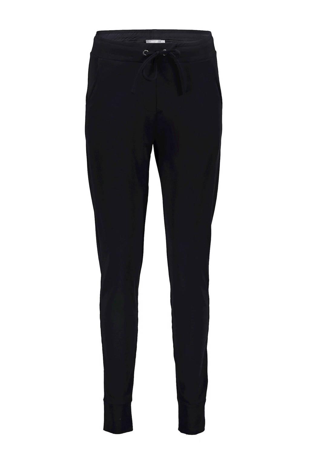 Geisha slim fit joggingbroek zwart, Zwart