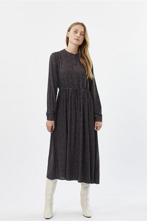 jurk Tanisa met all over print zwart
