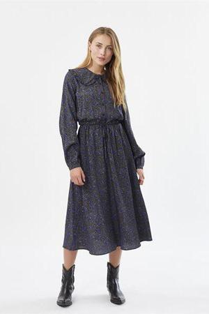 jurk Tanisti met all over print zwart