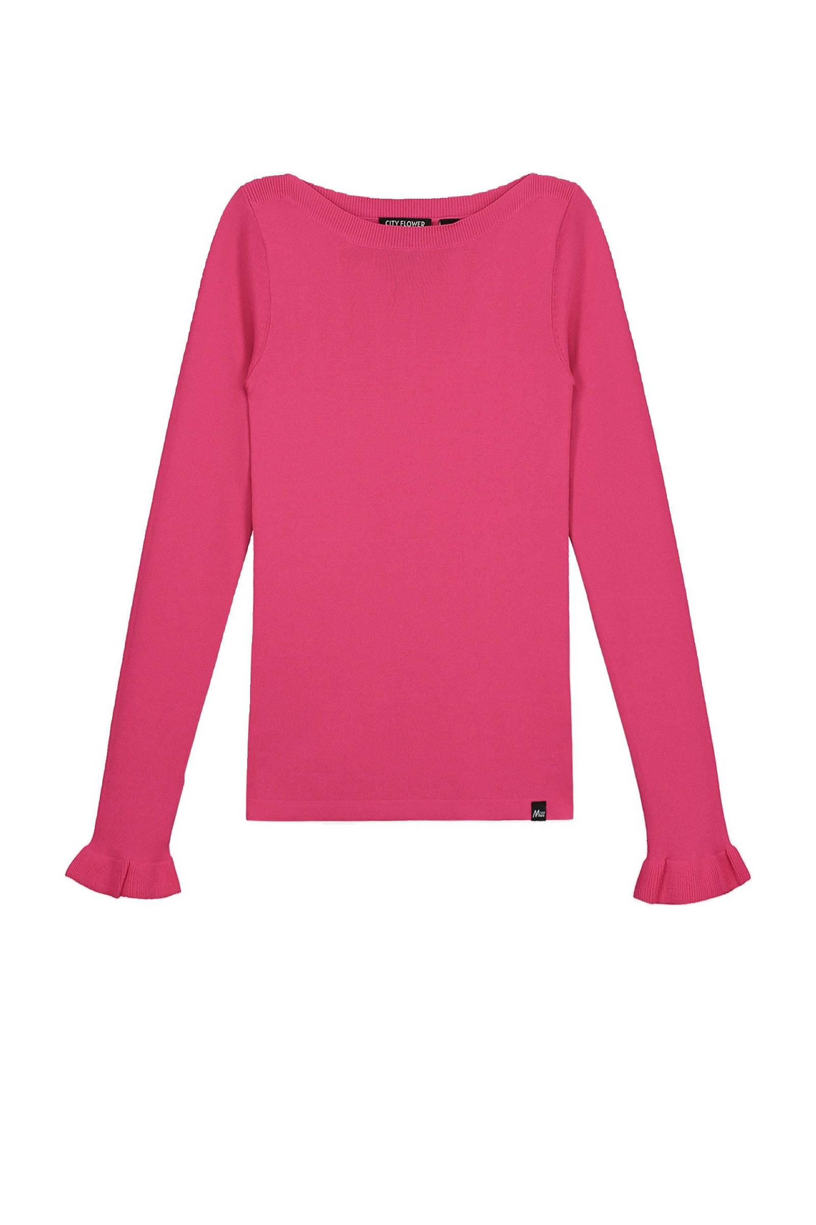 NIK&NIK fijngebreide trui Belia zwartgroen | wehkamp