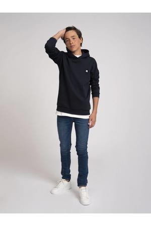 hoodie Mazin met logo donkerblauw
