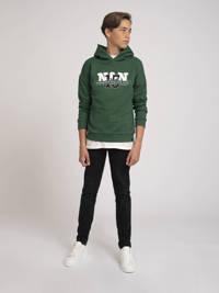 NIK&NIK hoodie Dustin met logo groen, Groen