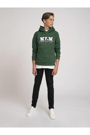 hoodie Dustin met logo groen