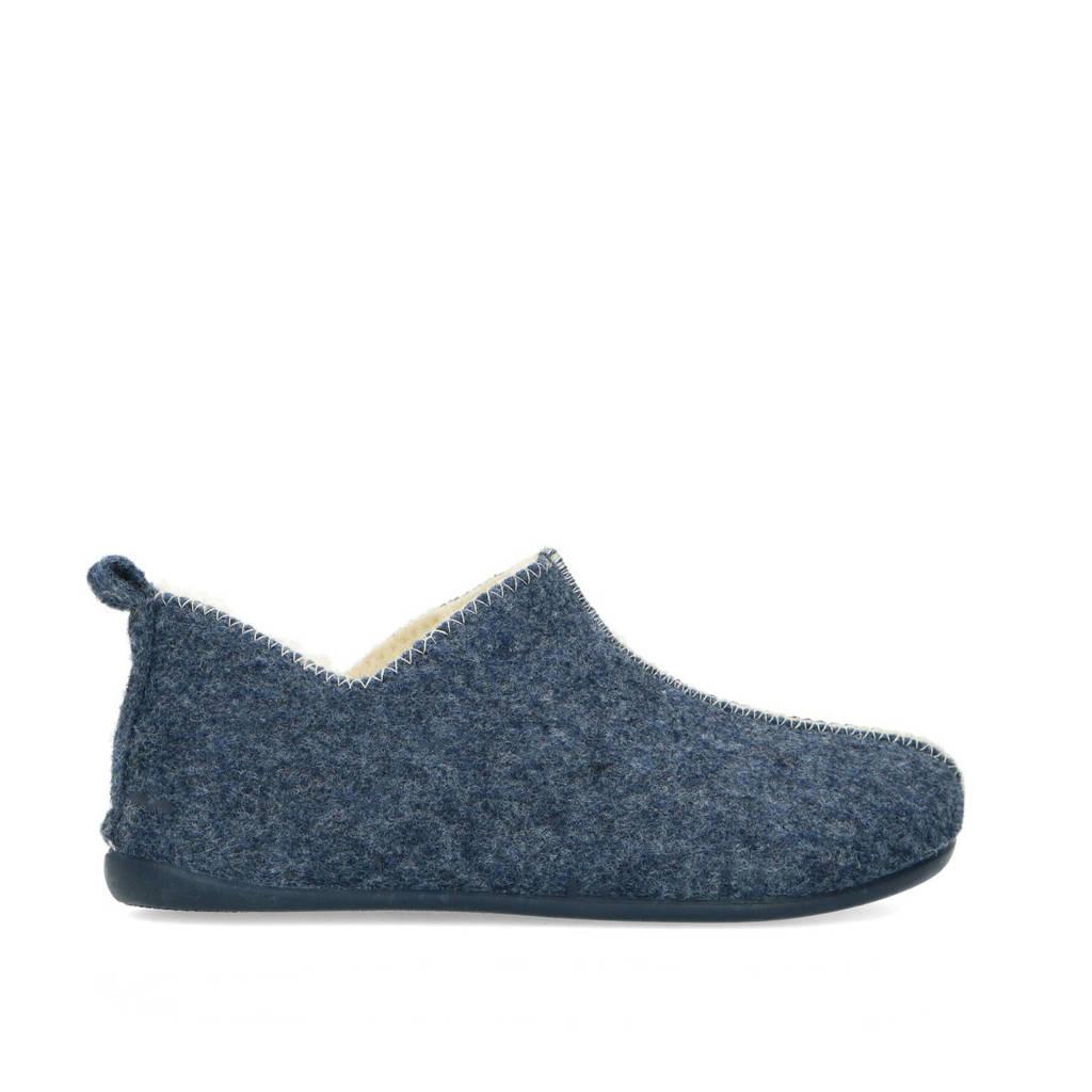 Manfield pantoffels blauw, Blauw