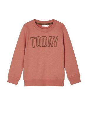 sweater Tanto van biologisch katoen roodbruin
