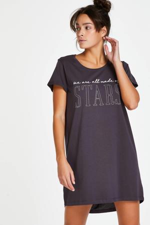 nachthemd met studs donkergrijs