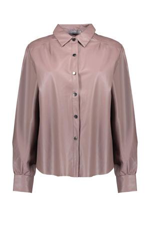 coated blouse violet