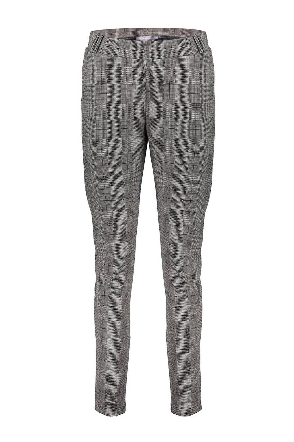 Geisha geruite broek grijs/zwart/wit, Grijs/zwart/wit
