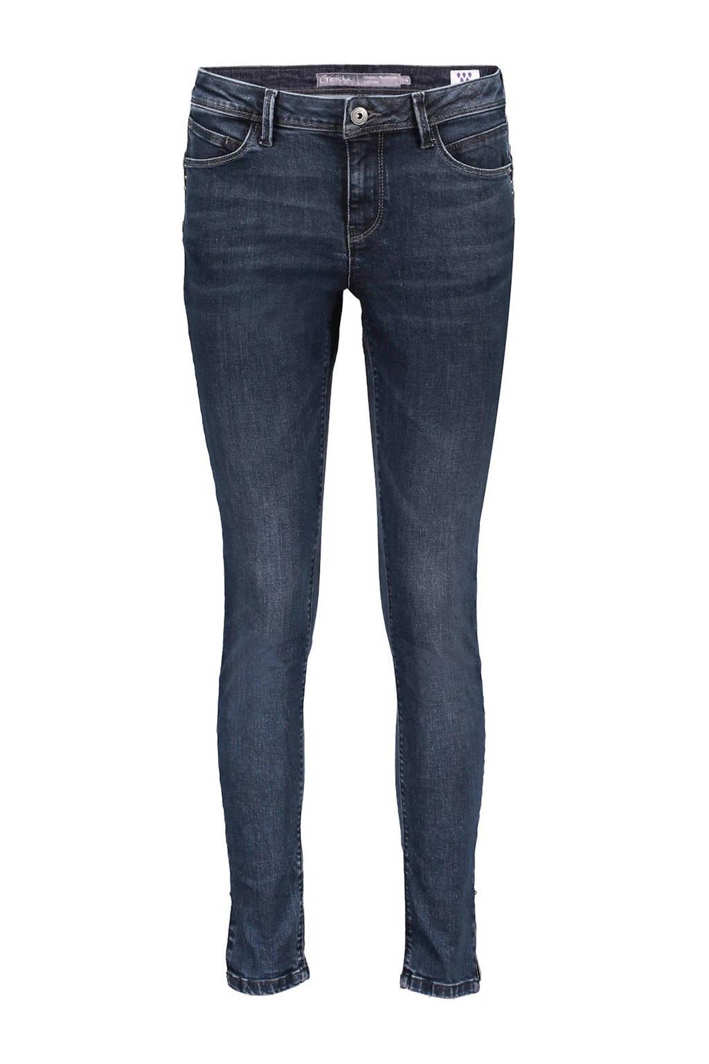 Geisha skinny jeans dark denim stonewashed, Dark denim stonewashed