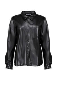 Geisha coated blouse zwart, Zwart