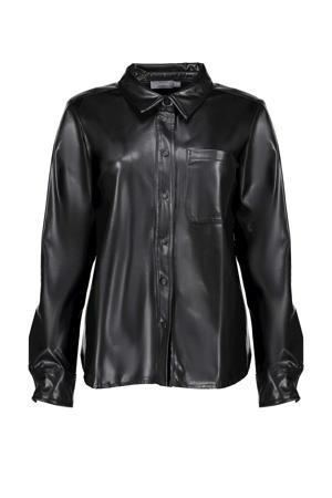 coated blouse zwart