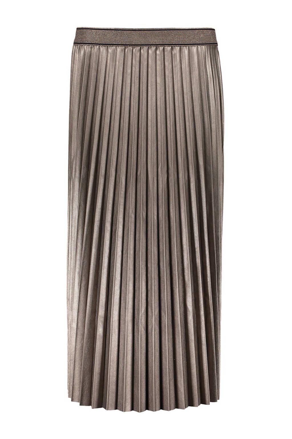 Geisha coated rok met glitters brons, Brons