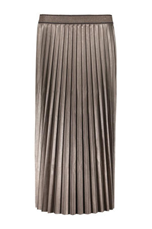 coated rok met glitters brons