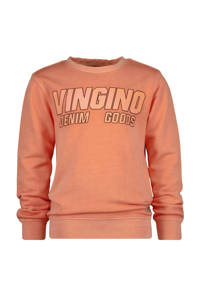 Vingino sweater Nestis met logo oranje, Oranje
