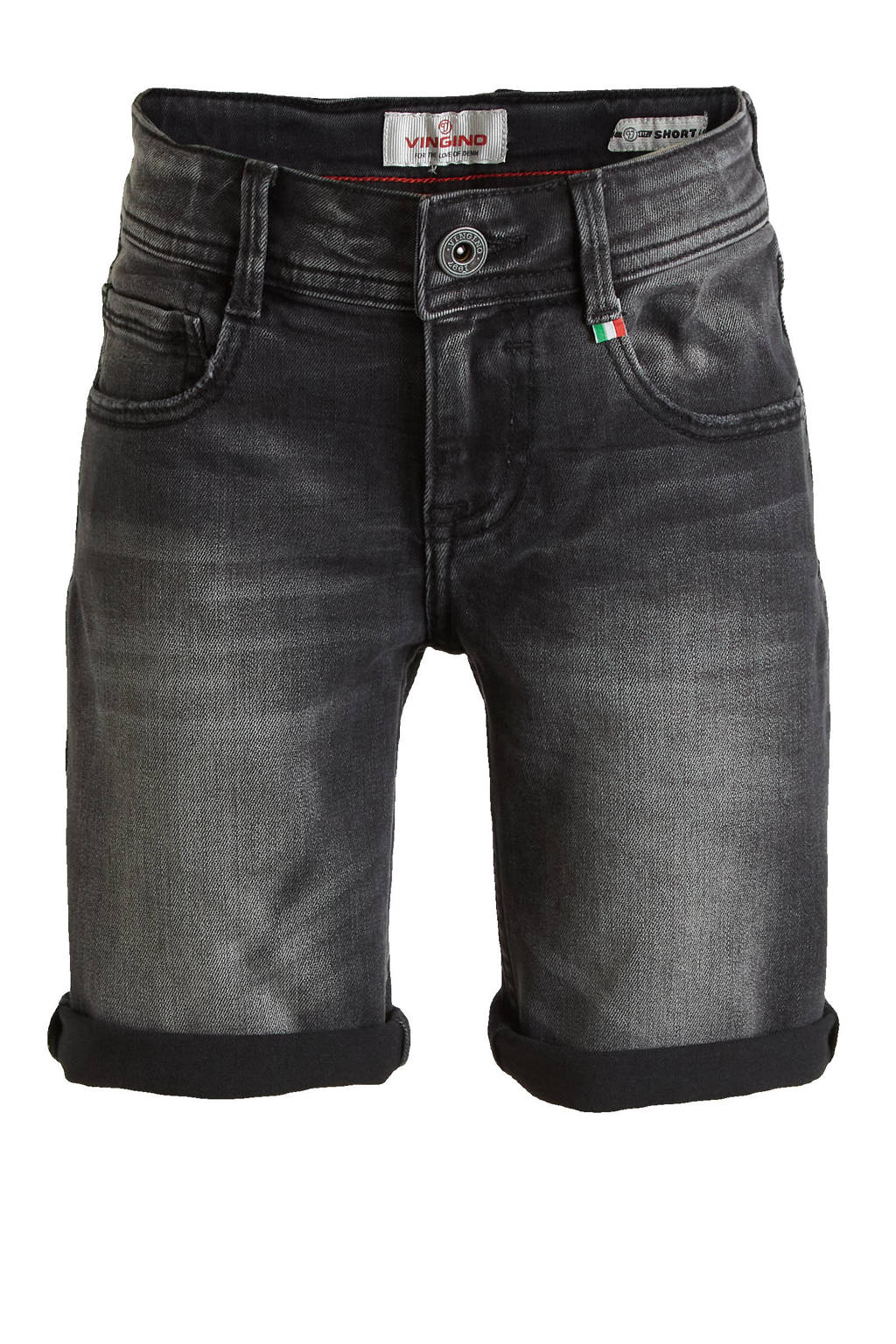 Vingino jeans bermuda Claas black, Black