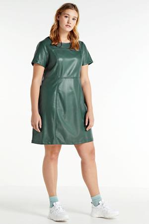 coated jurk mintgroen