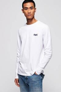 Superdry longsleeve met logo wit, Wit