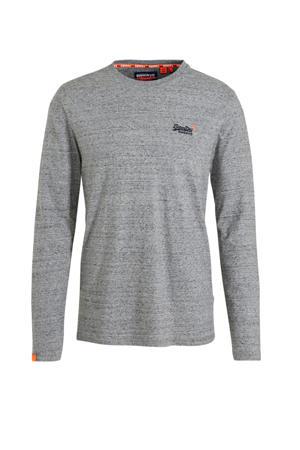 longsleeve met logo grijs melange