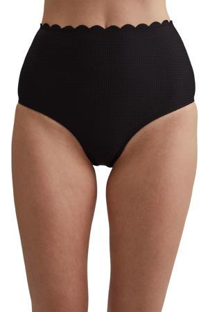 high waist bikinibroekje zwart