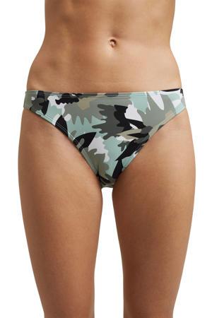 bikinibroekje met all over print groen/zwrat