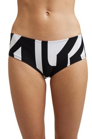 hipster bikinibroekje met all over print zwart/wit