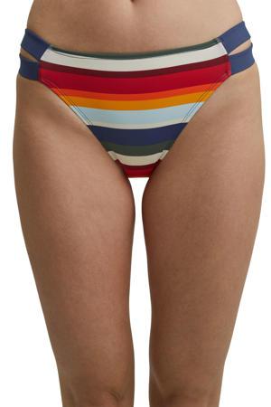 gestreept bikinibroekje blauw/rood/oranje