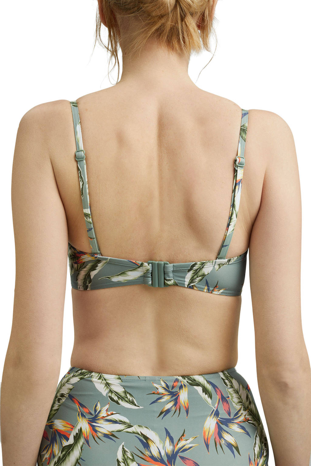 ESPRIT Women Beach beugel bikinitop met all over print lichtgroen, Lichtgroen