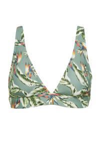 ESPRIT Women Beach halter bikinitop met all over print lichtgroen, Lichtgroen