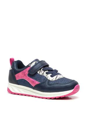 sneakers met glitters blauw