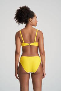 Marie Jo gestreepte beugel bikinitop Manuela wit/donkerblauw/geel, Wit/donkerblauw/geel