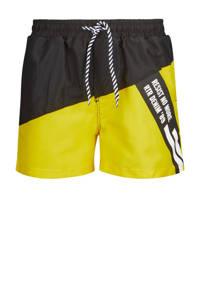 Retour Denim zwemshort Yuri geel/zwart, Geel/zwart