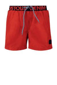 Retour Denim zwemshort Rider rood, Rood/marine