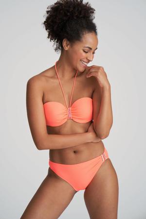 bikinibroekje Isaura met pailletten koraalrood