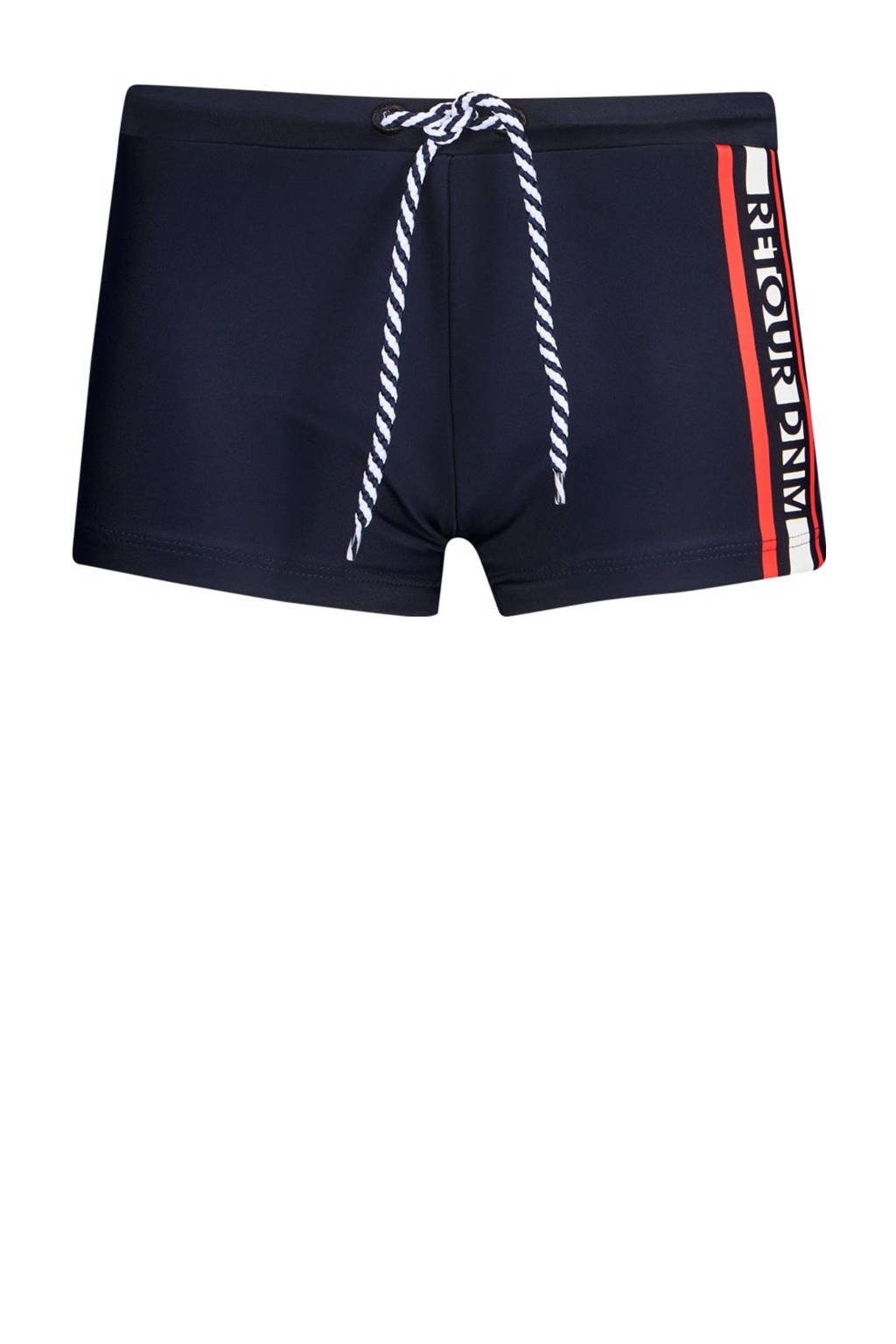 Retour Denim zwemboxer Alano donkerblauw/rood, Donkerblauw/rood