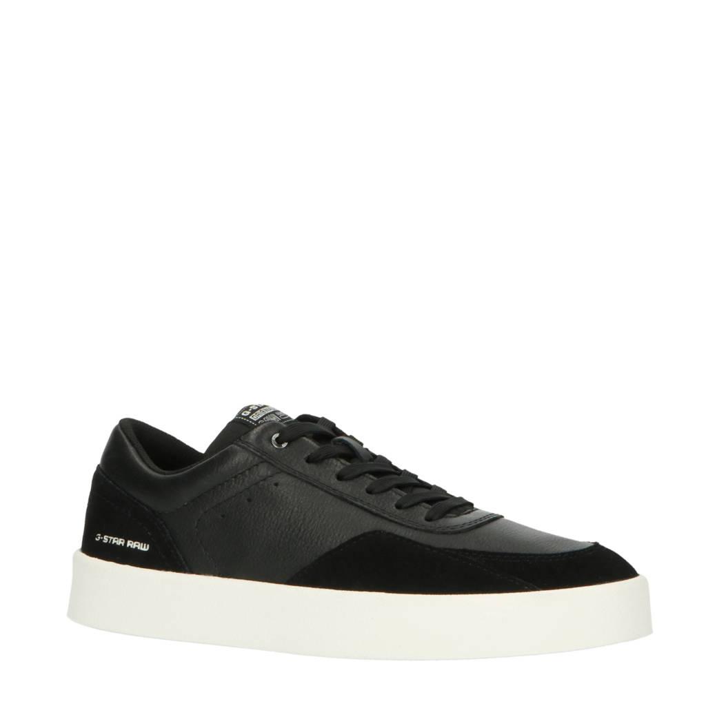 G-Star RAW Tect Pro  leren sneakers zwart, Zwart