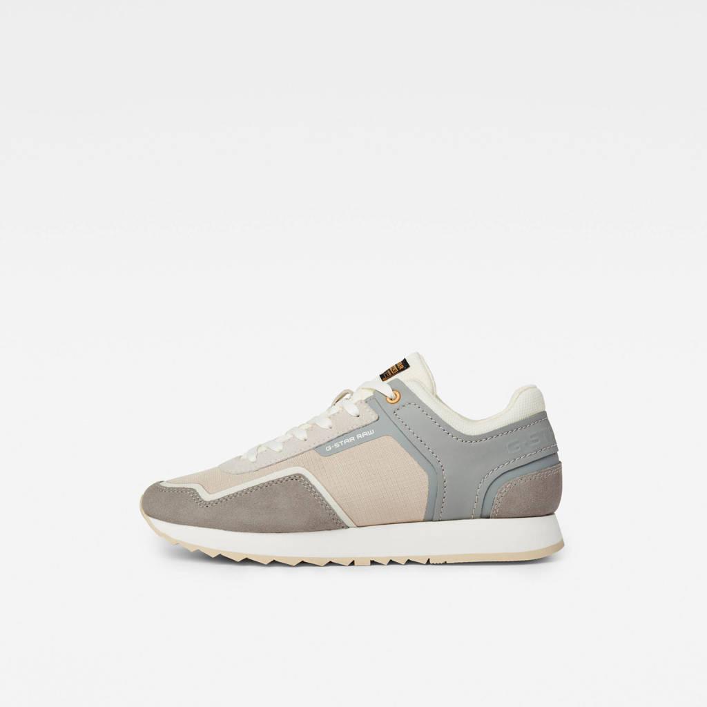 G-Star RAW Calow III  suède sneakers grijs/beige, Lichtgrijs/beige