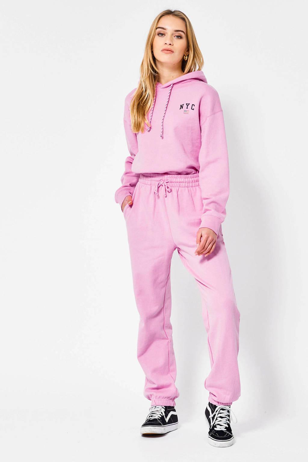 America Today joggingbroek Cou met tekst roze, Roze