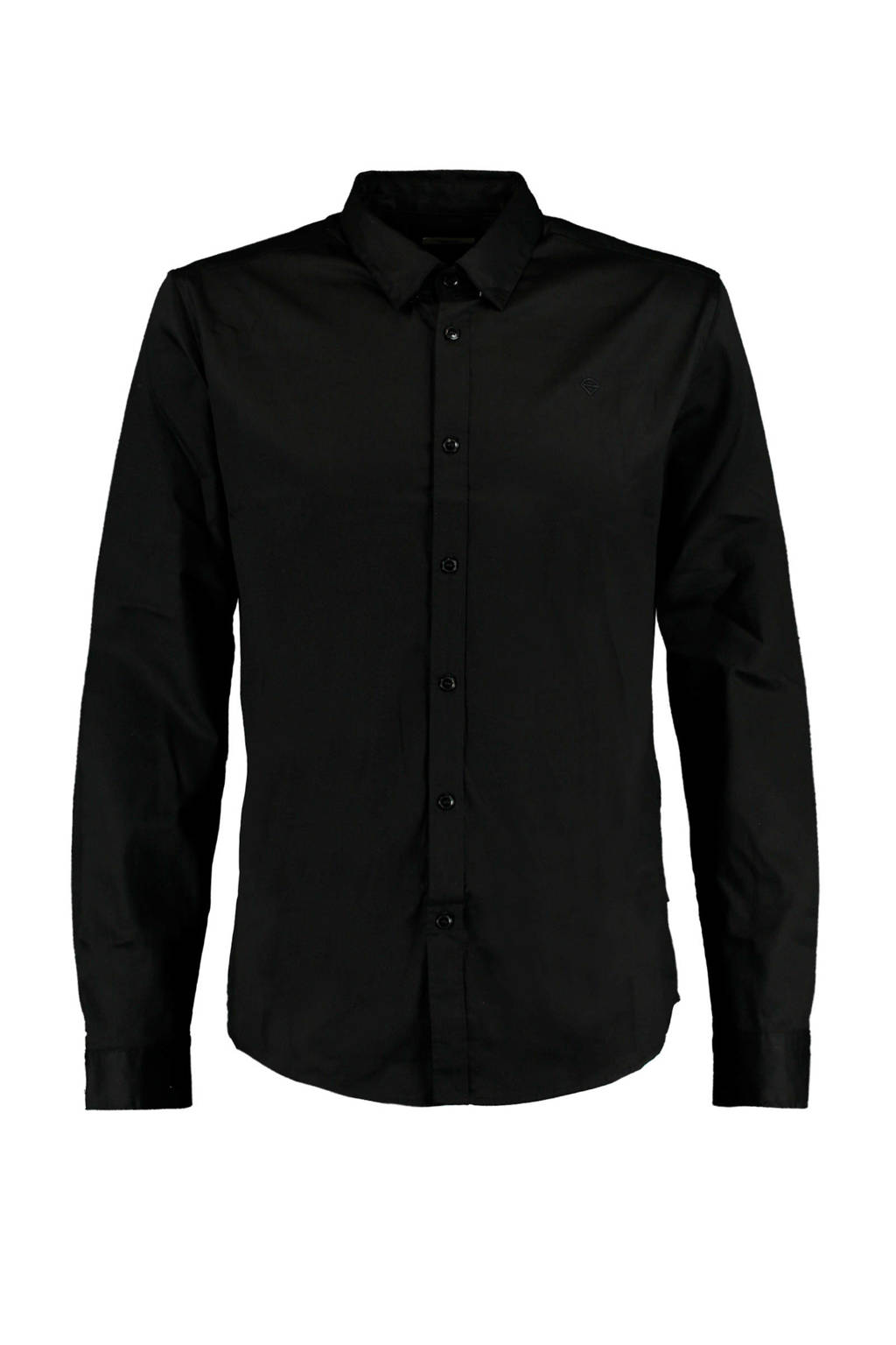 America Today regular fit overhemd Hack zwart, Zwart