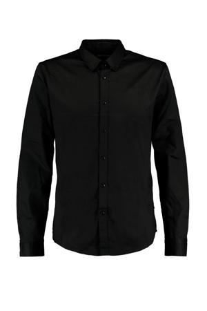regular fit overhemd Hack zwart