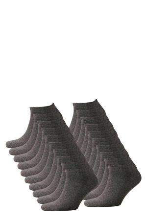sneakersokken - set van 20 grijs