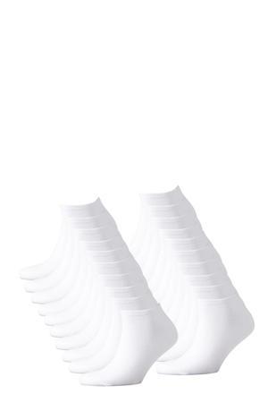 sneakersokken - set van 20 wit